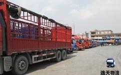 云南昆明逸天物流运输公司所在停车场
